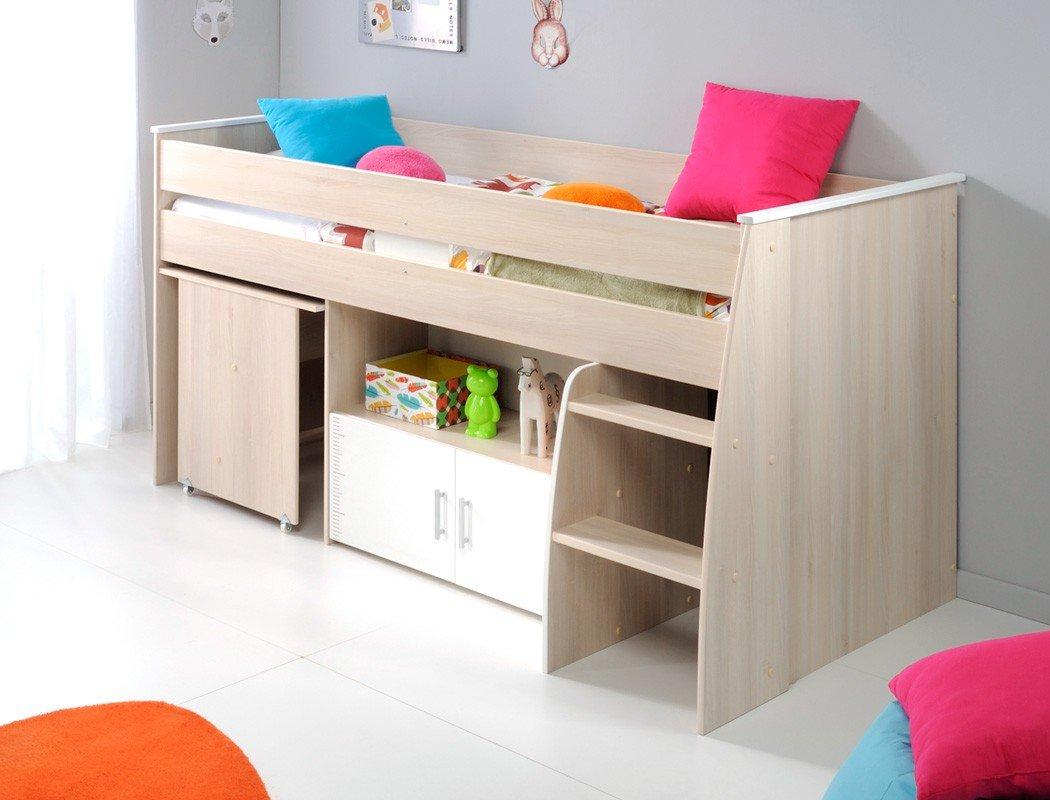 Hochbett Chiron 4 Akazie Nb 206x110x114 cm Liegefläche 90×200 Schreibtisch Kinderbett Bett Kinderzimmer Jugendzimmer günstig