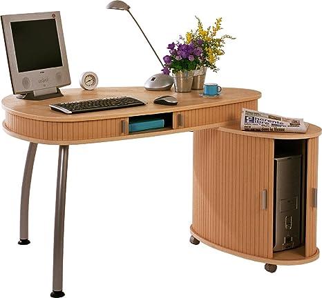 Simmob COGNAC617HK ufficio/cassa-Pannello in legno e melammina, in legno di faggio, 84 x 164 x 75 cm