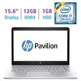 HP 15.6?? FHD IPS WLED-backlit (1920x1080) Display Laptop PC (2018 Model), Intel i7-7500U 2.7GHz, 12GB DDR4 RAM, 1TB HDD, Bluetooth, Backlit Keyboard, B&O Play, HDMI, WiFi, Webcam, Windows 10