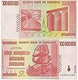 Zimbabwe Currency 100 Million $ CIRCULATED BILLS x 500 (2008)