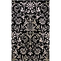 Hot Sale Surya NAT7042 Natura Transitional Hand Tufted 100% New Zealand Wool Black Rug (9-Feet x 13-Feet )