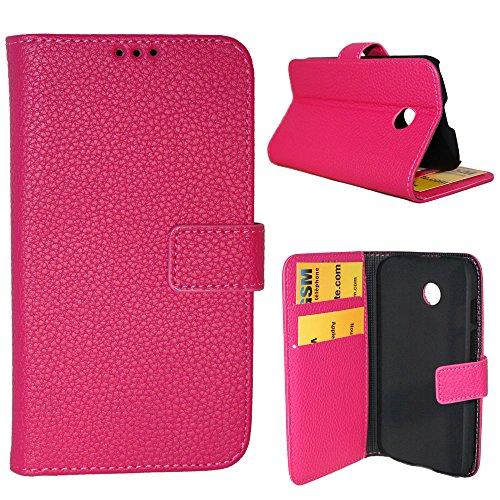 Rückseite Kunstleder Brieftasche für Motorola Moto e-rose