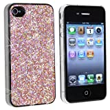 61tsgOIsAIL. SL160  Snap on Case Compatible With Apple® iPhone® 4, Light Pink Bling