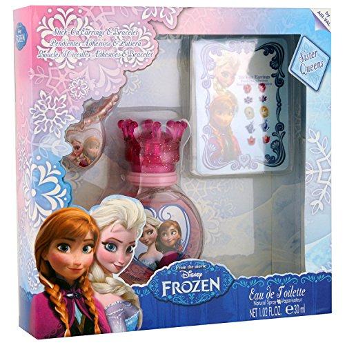 Disney Frozen Set Eau de Toilette 30ml/Armband/Ohrringe Aufkleber