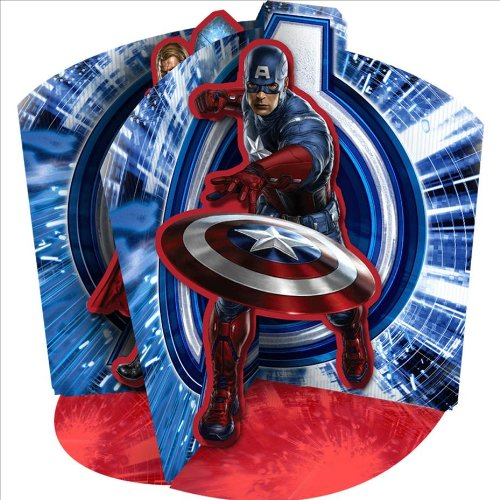 Marvel Avengers Centerpiece Featuring Captain America, Iron Man and Thor - 1