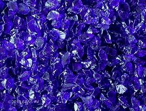 Amazon Com Fire Pit Glass Rocks Cobalt Blue 3 8 1 2 Quot 4