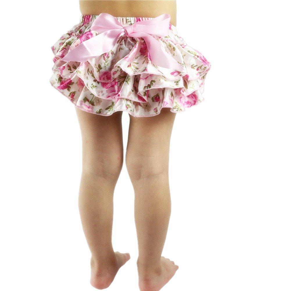 EQLEF® nette Baby-Rüsche-Schlüpfer-Schriftsatz Bloomers Pink Floral Pants (Pink) jetzt bestellen