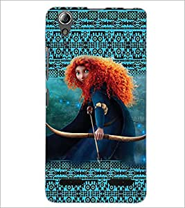 PrintDhaba Warrior Girl D-5861 Back Case Cover for LENOVO A6000 PLUS (Multi-Coloured)