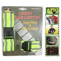 1 Reflective Arm Band 1 Safety Belt Yellow Running Bike Sport Strap Visibility !