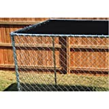 10ft. X 10ft. Black Dog Kennel Shade Covers / Sunblock Tops