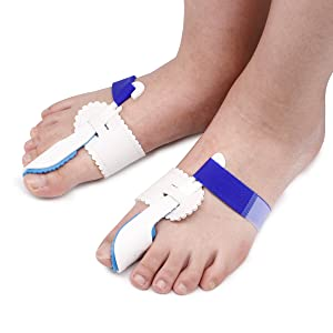 2pcs Adjustable Velcro Bunion Night Splint Hammer Toe Corrector Brace for Big Toes Joint Hallux Valgus Pain Relief
