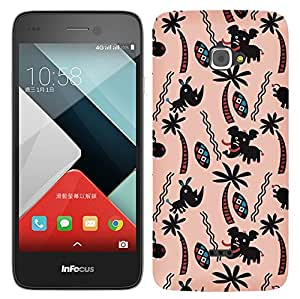 WOW Printed Designer Mobile Case Back Cover For InFocus M350