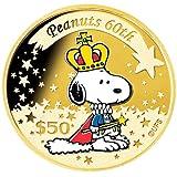 ピーナッツ生誕60周年記念貨コレクション<50ドルカラー金貨>クラウン・スヌーピーCNEG0005