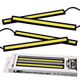 4PCS Waterproof Car COB LED 12V Lights High Power DRL Daytime Running Fog Driving White Lamp