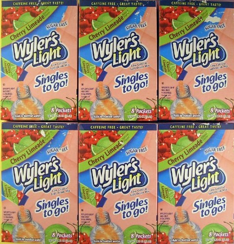 Wyler's Light Cherry Limeade Drink Mix- SIX BOXES EXP Date: 5/2015 (Cherry Limeade Soda compare prices)