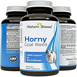 FAST ACTING TESTOSTERONE BOOSTER - Best Horny Goat Weed supplement for men & women • Nitric Oxide booster + Maca Root + Tongkat Ali + Icariine • Best powder extract for NATURAL LIBIDO BOOSTER