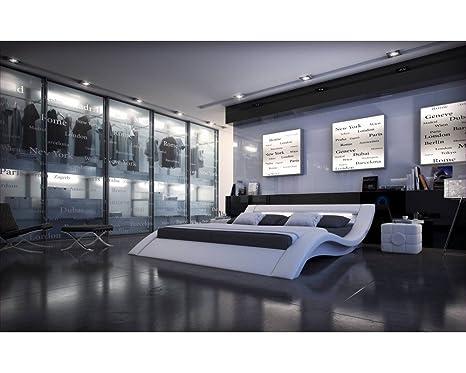 Lit design lumineux Sydney 180cmx200cm Sans matelas Sans sommier