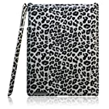 【全4色】iPad 2 プラスチックケース 豹柄 ブラック  Plastic Case for iPad 2 保護液晶フィルム付 (1187-3)