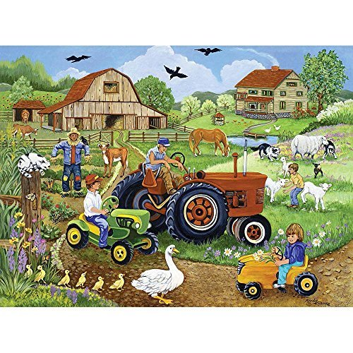 Bits and Pieces - Tractor Trio - 500 Piece Jigsaw Puzzle