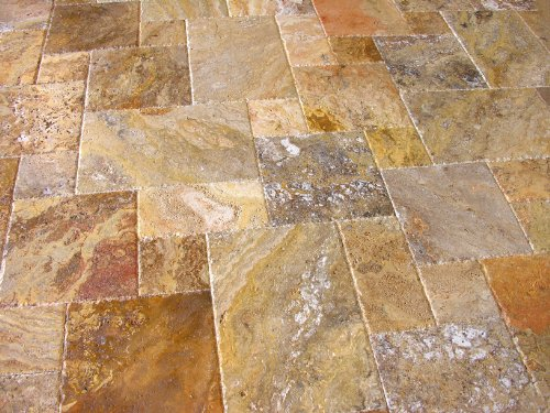 Scabos Travertine Versailles / Ashlar Patterned Tiles (UF/B/CE)