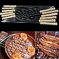 12Pcs BBQ Barbecue Skewer Grill Kabob Kebab Stick Flat Needle