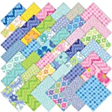 Moda Giggles Charm Pack, Set of 42 5-inch (12.7cm) Precut Cotton Fabric Squares