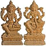 Lakshmi Vishnu - South Indian Temple Wood Carving