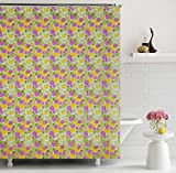 "Home Candy Attractive PEVA Shower Curtain - 70""x70"", Multicolor"