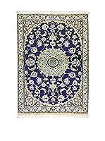 L'EDEN DEL TAPPETO Alfombra Nain K Azul/Multicolor 87 x 126 cm