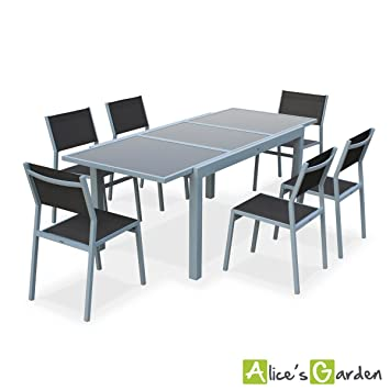 Alice's Garden - Salon de jardin table extensible ...
