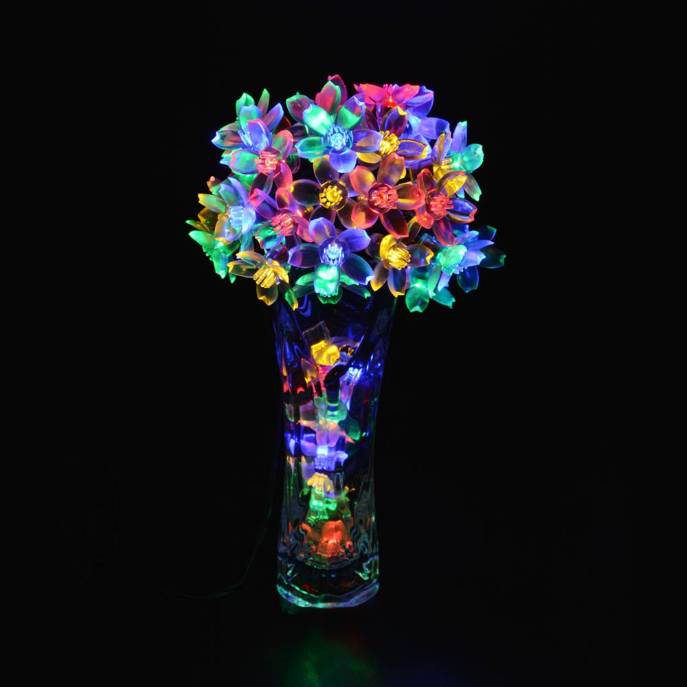 Solar Powered Flower String Lights 12 49 From Amazon