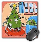 3dRose S. Fernleaf Designs Holidays Christmas Cats - Christmas Cat, Christmas Tree with Cats, Cats, Christmas, Christmas, Cat, Pets, Holidays - MousePad (mp_34020_1)