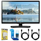 LG 28LJ4540 28-Inch 720p HD LED TV (2017 Model) w/Accessories Bundle Includes, SurgePro 6-Outlet Surge Adapter with Night Light, 2 x 6ft. HDMI Cable & Screen Cleaner For LED TVs