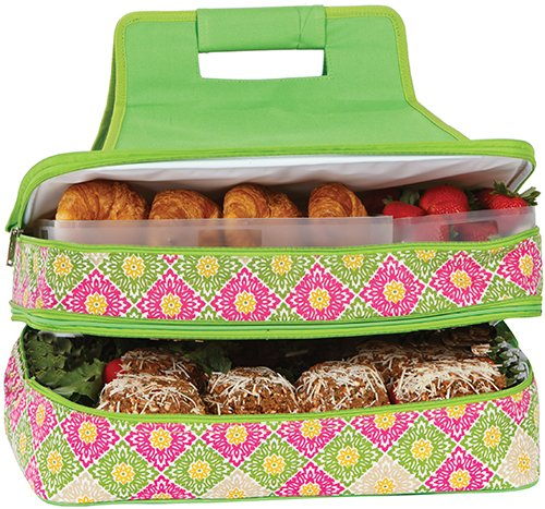 Entertainer Hot & Cold Food Carrier by Picnic Plus - Green Gazebo - 1