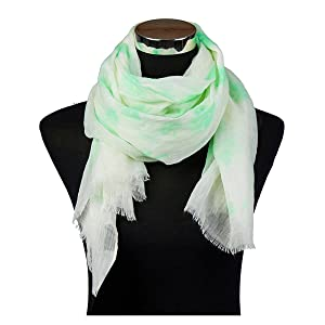 Shamrock Pastel Scarf with Raw Edge