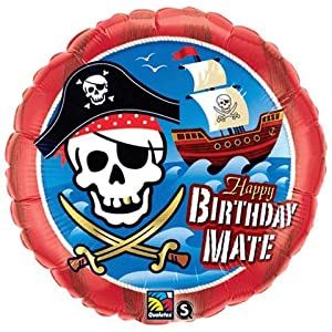 Pirate Skull Crossbones Happy Birthday Mate 18