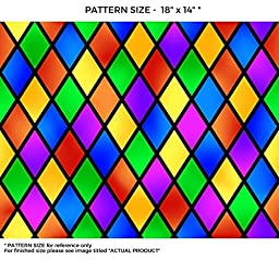 WindowPix 36 x 36 Diamond Carnival Pattern Window Film Static Cling Film UV Filtering Energy Saving