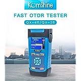 FTTH SM QX45 OTDR 1310/1550nm 32/30dB OTDR Tester w/10mw VFL.Comes with a 500m Singlemode OTDR Launch cable box (Color: Blue, Tamaño: Medium)