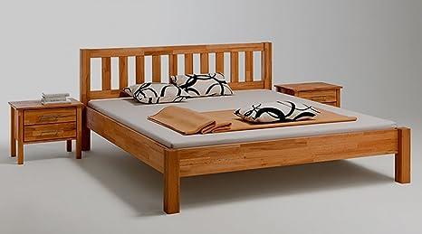 Bett Massivholz Kernbuche geölt mit Kopfteil 180x200