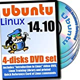 Ubuntu 14.10, 4-discs DVD Installation and Reference Set
