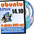 Ubuntu Linux 14.10, DVD d'installation 4-Disques Et Reference Set