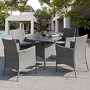 giantex 5 pc patio rattan furniture set