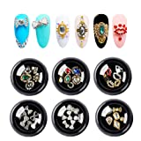 36pcs 3d Bows Nail Art Rhinestones, Alloy Jewelry Diy Nail Flatback Crystals Decoration,Manicure Charms Large Mix Sizes Crystal Diamonds Gems Stones Nail Art Supplies (Color: K-001, Tamaño: one size)