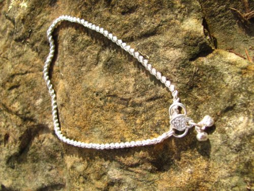 Silver Anklet with Pendant