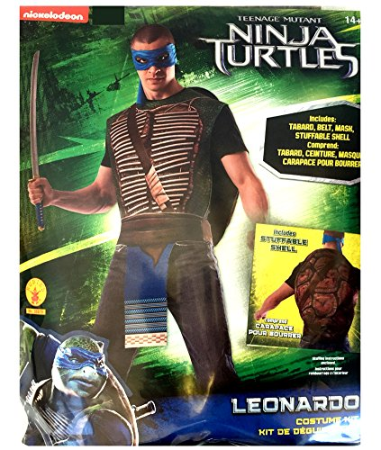 LEONARDO Teenage Mutant Ninja Turtle Adult Costume Kit W/ Stuffable Shell
