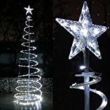 Yescom 6ft Cool White Christmas Spiral Tree Light Indoor Outdoor Yard 182 LEDs Xmas Art Decoration Lamp
