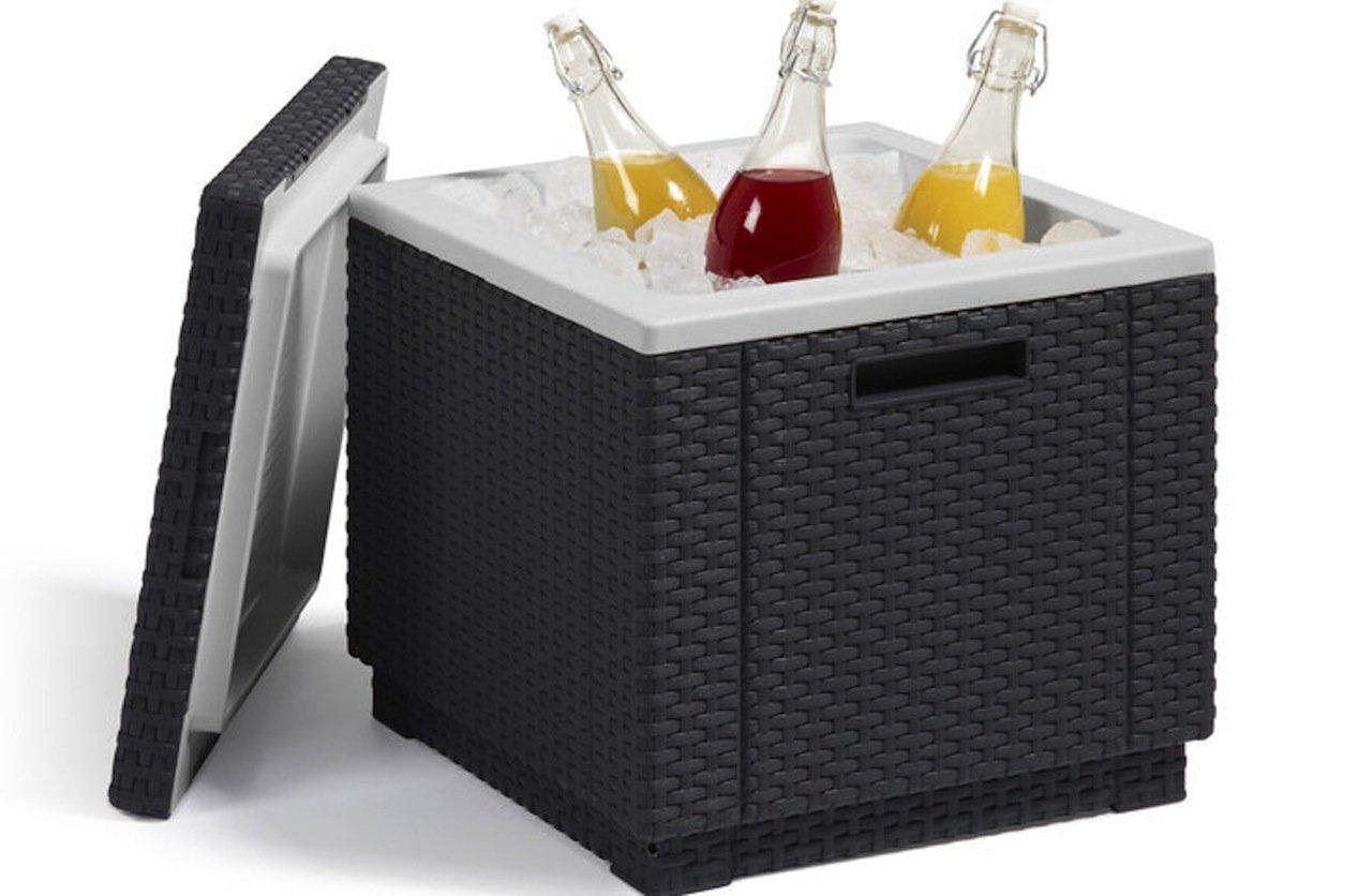 Allibert 212159 Kühlbox/Beistelltisch Ice Cube, Rattanoptik, Kunststoff, anthrazit bestellen