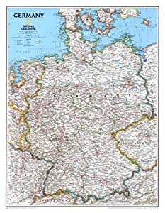 Map Germany Education Poster Print, 24x31