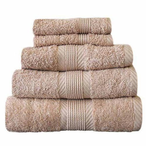 CL Home 100% Cotton 450gsm 4 Piece Guest Towel Set, Biscuit