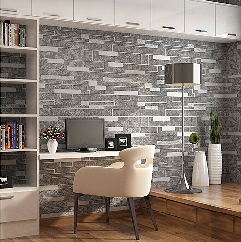 Modern Faux Rustic Brick Marbel Pattern Wallpaper Wall Mural Wall Decals,priced in Double Rolls,151084 (Decal Wallpaper compare prices)